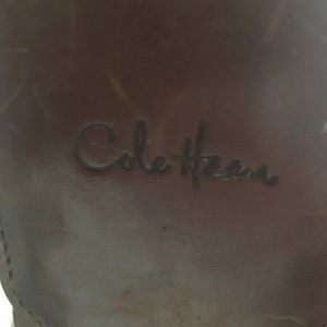 Small leather cole haan adjustable brown belt